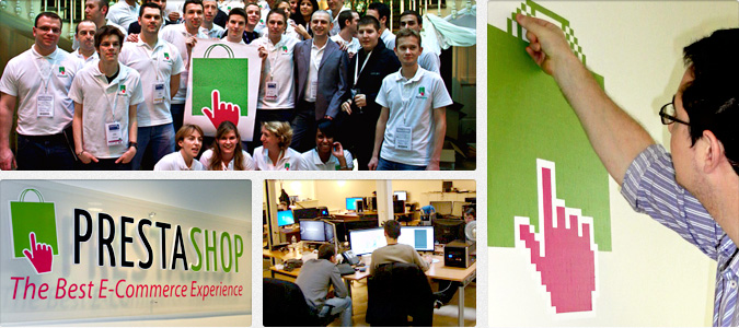 Несколько фотографий команды разработчиков движка PrestaShop